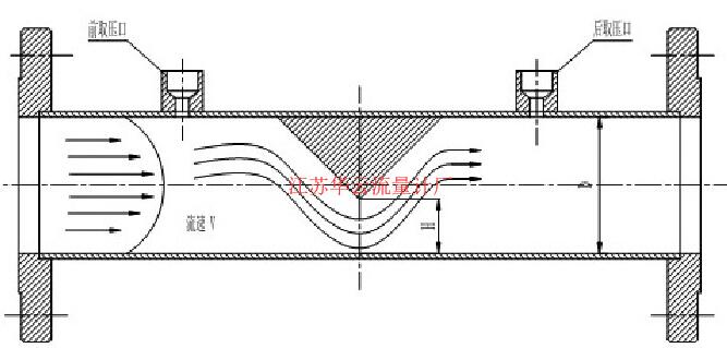 图3 楔式流量计原理图