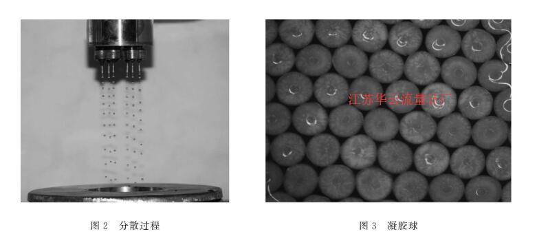 图2分散过程图3凝胶球