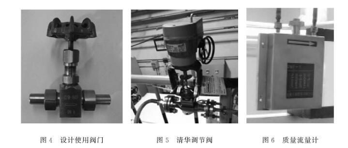 图4设计使用阀门 图5清华调节阀 图6质量流量计
