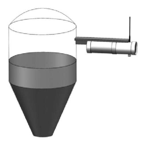 图5 仓泵料位计安装示意图