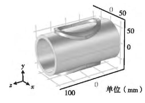 图5 弯圆形励磁线圈几何模型